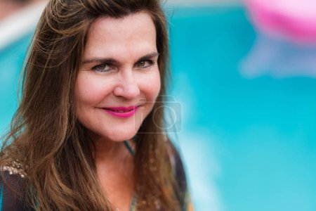 Photo for Pretty middle age woman outdoor portrait - Royalty Free Image