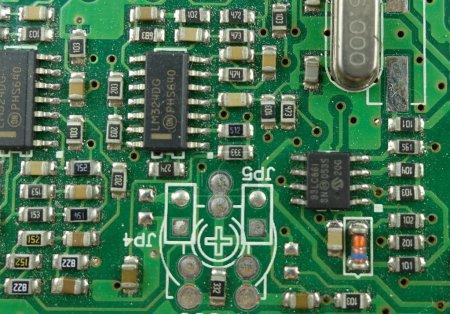 Foto de Placa de conexión electrónica - Placa de circuito - Imagen libre de derechos