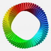 circulary arranged colorful shapes 3d style vector illustration