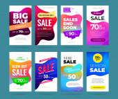 Set of sale banner for social media stories web page mobile phone Sale banner template design special offer set