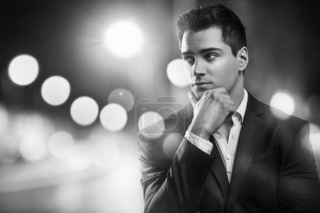 Photo for Portrait of handsome young elegant man in suit. - Royalty Free Image