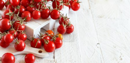 Photo for Cherry Tomatoes from a farmers market close up - Royalty Free Image