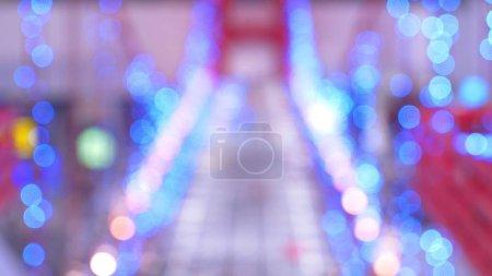 Photo pour Bokeh multicolore. de nombreuses lumières floues colorées - image libre de droit