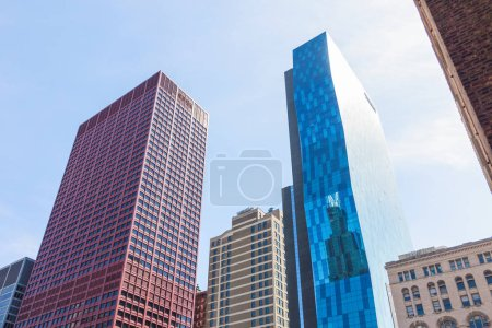 Photo for View on Chicago skyscrapers in the downtown, Illinois, USA - Royalty Free Image