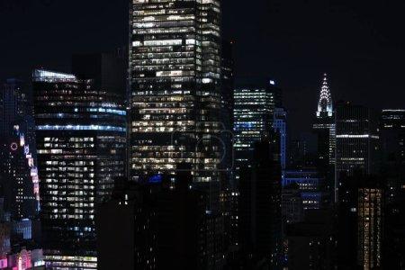 Photo pour Vue de la ville la nuit - image libre de droit