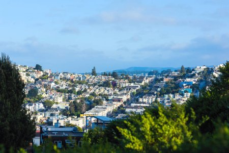 Photo pour Paysage urbain de San Francisco et horizon du centre-ville par temps ensoleillé. Californie, États-Unis - image libre de droit