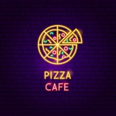 Pizza Cafe Neon Label