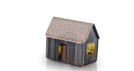 Photo for Model of detached a house, business home idea - Royalty Free Image