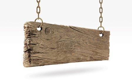 Photo pour Panneau en bois, vieux bois . - image libre de droit