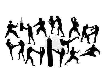 Sport Activity Silhouettes, art vector design...