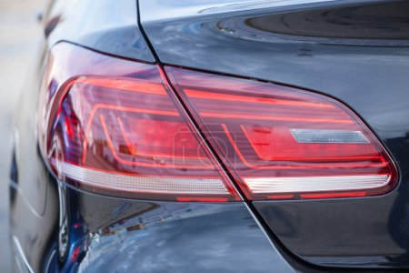 Photo for Closeup of a taillight on a modern car - Royalty Free Image