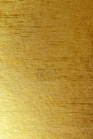 Photo for Shiny yellow leaf gold foil textured background suitable for any design - Royalty Free Image