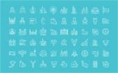 Set of Line Icons of United Arab Emirates