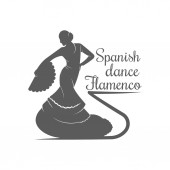 Spanish Dance Flamenco Logotype