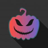 Icon in the form of a festive pumpkin made in the style of flat design