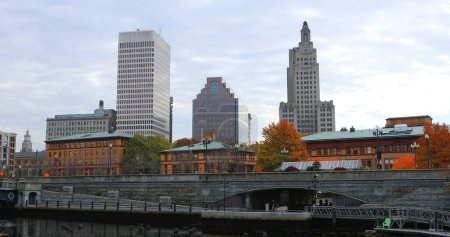 Photo pour Vue du centre-ville de Providence, Rhode Island - image libre de droit