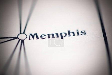 Photo pour Memphis, États-Unis d'Amérique, sur une carte géographique - image libre de droit