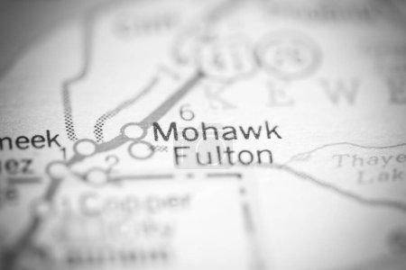 Mohawk Fulton. Michigan. USA on a geography map....