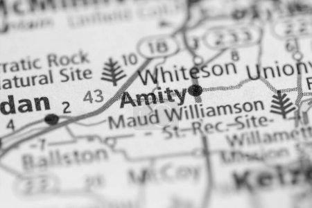 Photo pour Amity. Dans l'Oregon. États-Unis. Concept géographique gros plan - image libre de droit