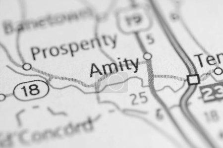 Photo pour Amity. Pennsylvanie. Carte des USA - image libre de droit
