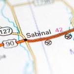 Sabinal. Texas. USA on a map...