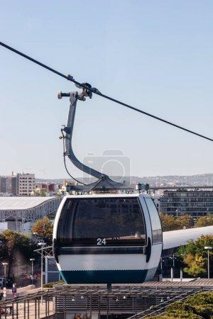 Photo pour Telecabine Lisboa au Parque das Nações (parc des Nations) à Lisbonne, Portugal - image libre de droit