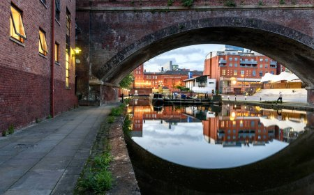 Bridgewater canal at castlefield Manchester