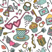 Hipsters Cute seamless pattern