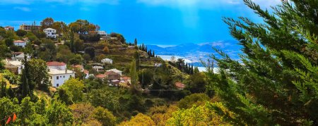 Volos city view from Pelion mount, Greece