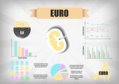 Vector : Euro currency infographic chart