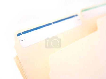 Photo pour Gros plan du dossier classique du fichier manille dans le fichier suspendu (avec étiquette ) - image libre de droit