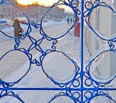 Fragment of icy lattice of fencing