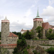 Old Town of Bautzen in Saxony with the Old Waterwo...