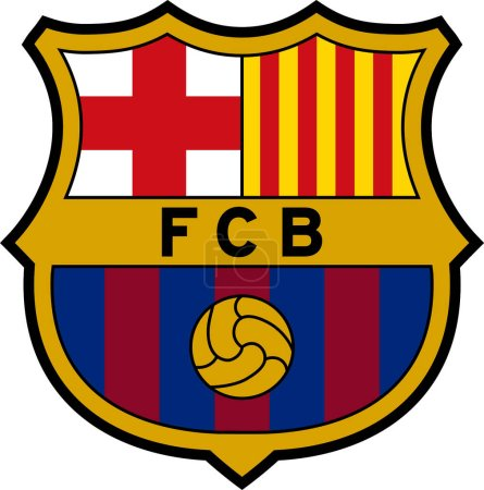 Logo of Spanish football team FC Barcelona - Spain.