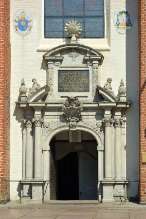 Entrance of the Cathedral of Oliwa in Gdansk - Pol...