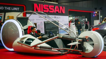 Photo for BANGKOK - JULY 5 : NISSAN Modified car show at Bangkok International Auto Salon 2018, the largest and most magnificent Modified Car and automobile accessories show in Bangkok, Thailand. - Royalty Free Image