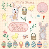 illustration in childrens style on the theme of Easter a large