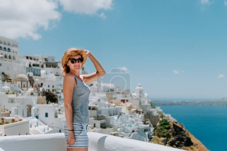 Photo for Luxury beautiful girl in a glasses, in an expensive hotel on a tropical island - Royalty Free Image