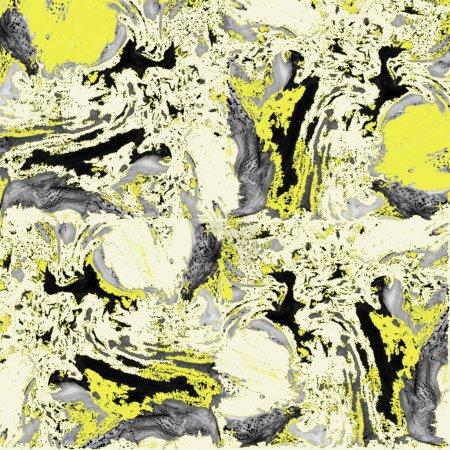 Photo pour Aquarelle marbre fond jaune. Modèle sans couture pour la conception . - image libre de droit