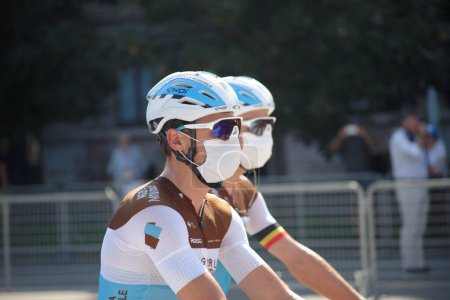 Photo for Annual cycling race that starts in Milan and ends in Sanremo - Royalty Free Image