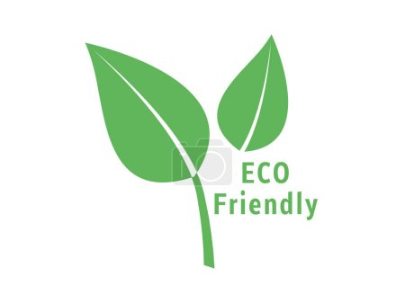 Photo for Vector ECO Friendly Green Leaf Isolated on White Background - Royalty Free Image