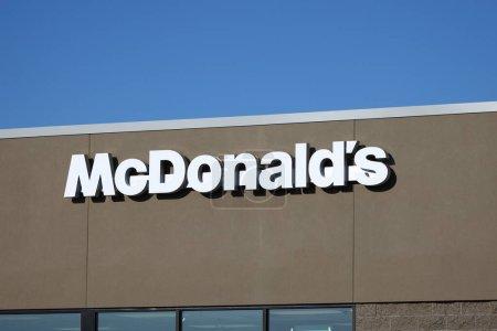 Turtle Lake, WI / USA  - June 26 / 2020: McDonald'...