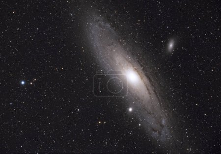Great galaxy Andromeda on background
