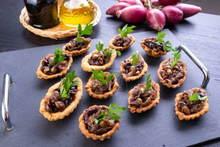 Photo for Tasty tarts  with stuffed savory - Royalty Free Image