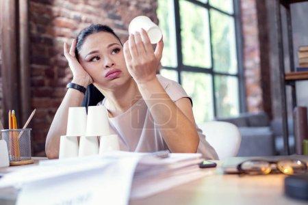Unpleased female freelancer loosing projects