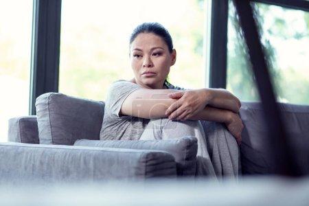 Upset heartbroken woman wanting antidepressant