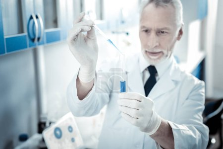 New vaccine. Selective focus of a new vaccine samp...