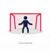 Stick Figures of Soccer or Football Goalkeeper. vector
