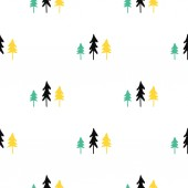 Scandinavian seamless pattern of Christmas tree. Christmas pattern for wrapping paper and festive decoration.