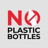 No plastic bottles sign.